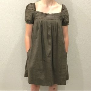 Theory Narcisca Linen Blend Peasant Dress